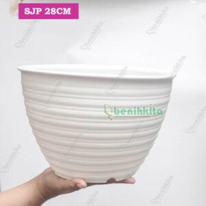 pot tawon 28cm putih